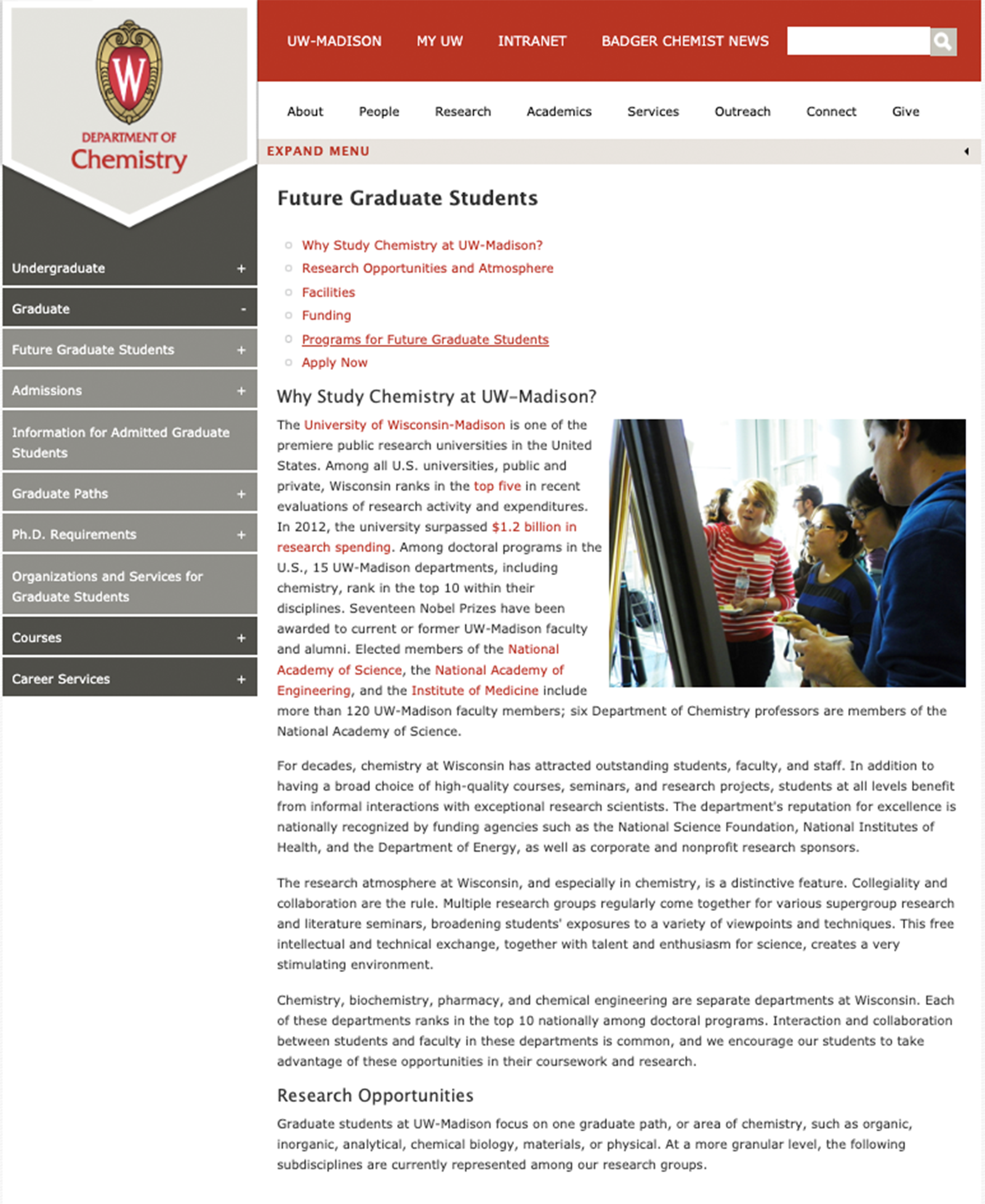 Old Prospective Graduate Student Page