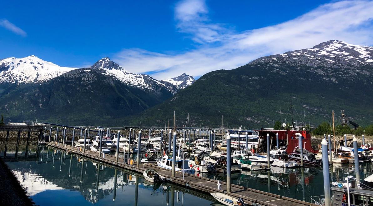 Boats docked in Skagway, Alaska